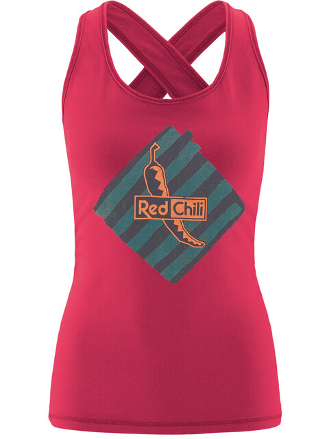 Red Chili Psycho 17 Mouwloos Shirt Dames seamless rood